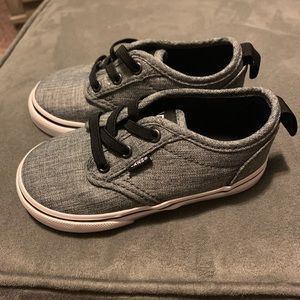 Toddler Gray Vans Size 7